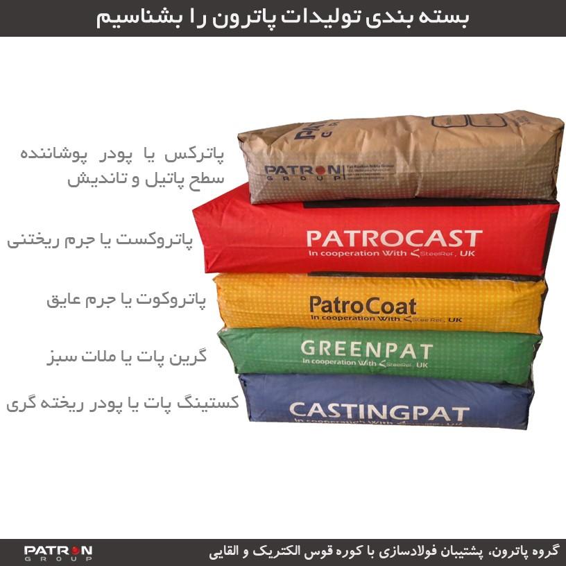 بسته بندی محصولات گروه پاترون
