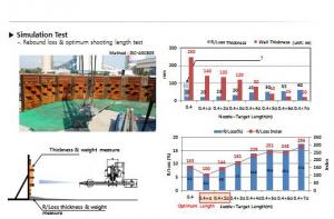 شکل۸- آزمون شبیه سازی برای نصب جرم ریختنی دیرگداز با اتصال نانو به روش شاتکریت در کاربرد کوره بلند ذوب آهن [۲]