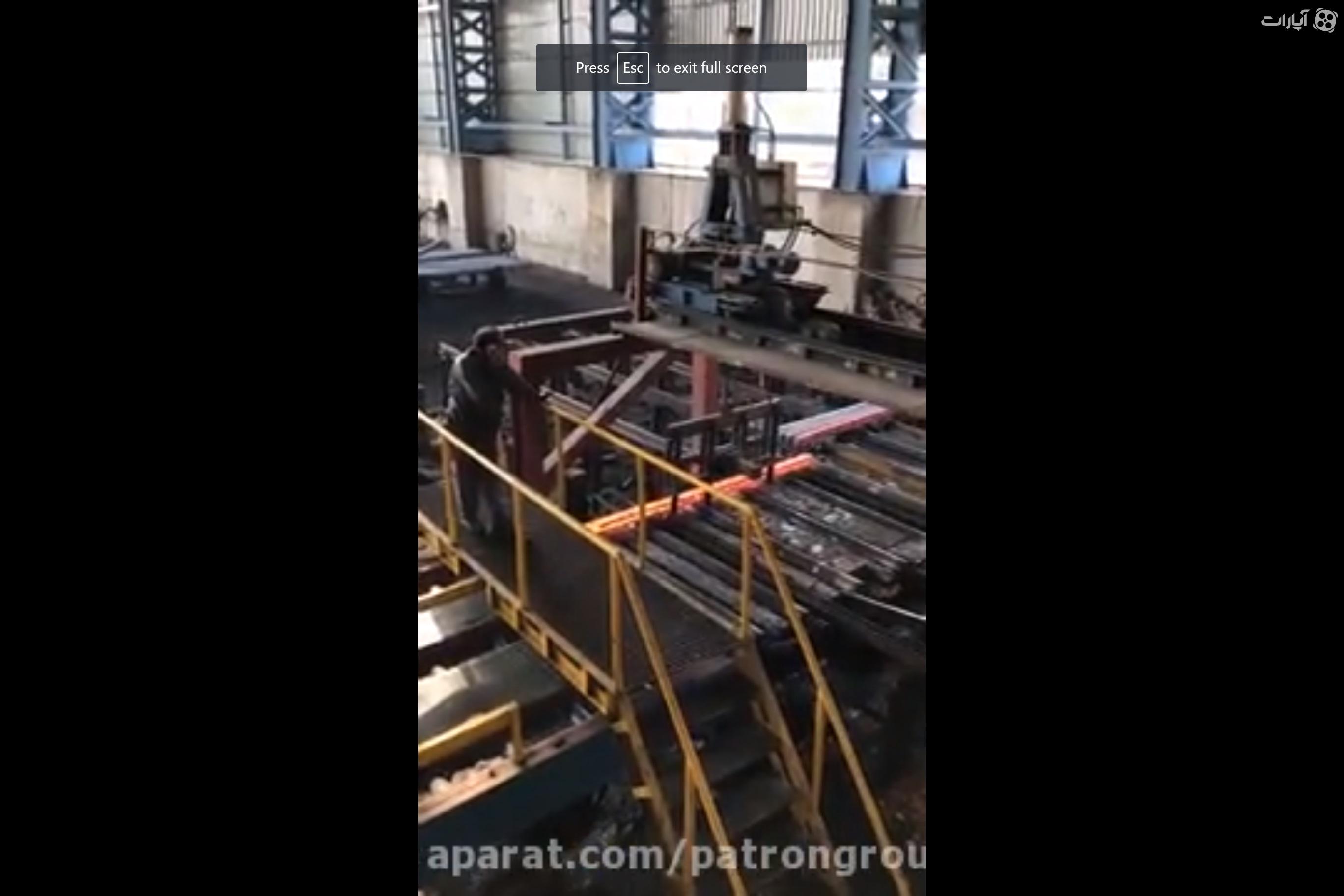 نورد مستقیم شمش فولاد در کارخانه هندی