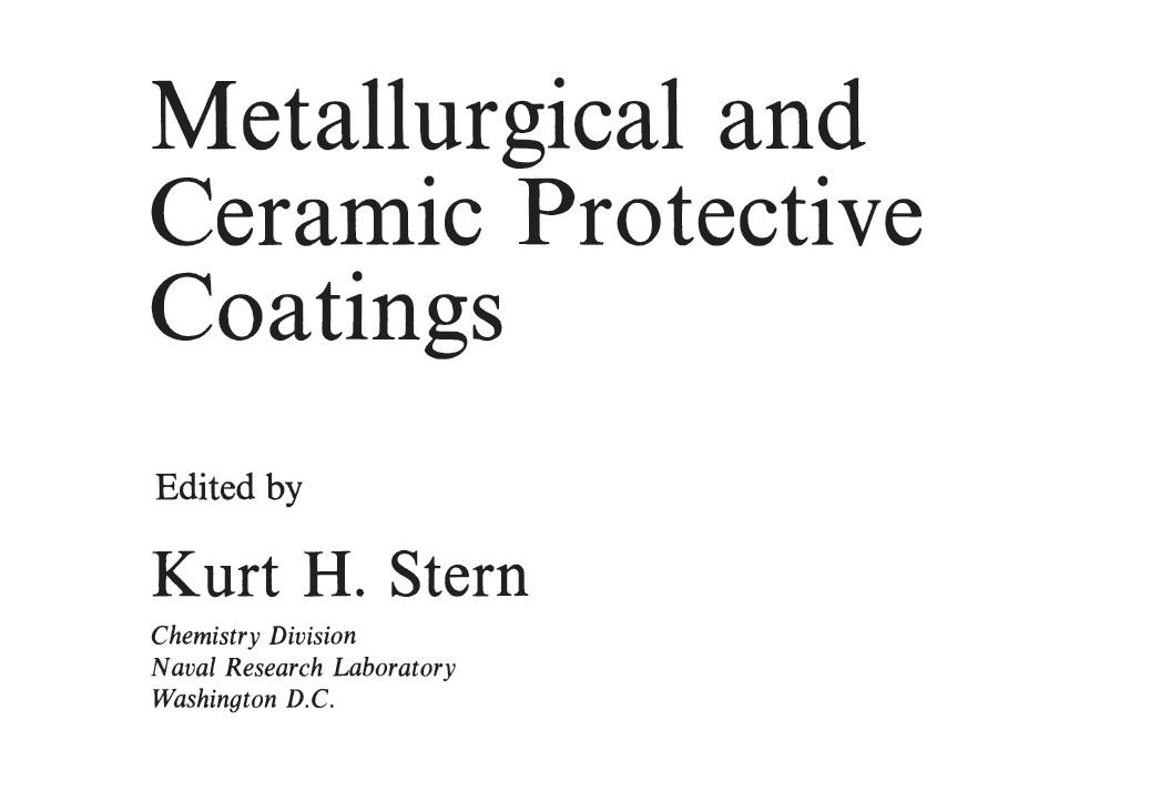 کتاب پوشش های حفاظتی متالورژیکی و سرامیکی